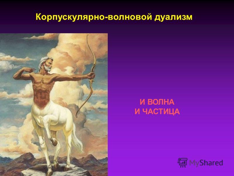 Корпускулярно-волновой дуализм И ВОЛНА И ЧАСТИЦА