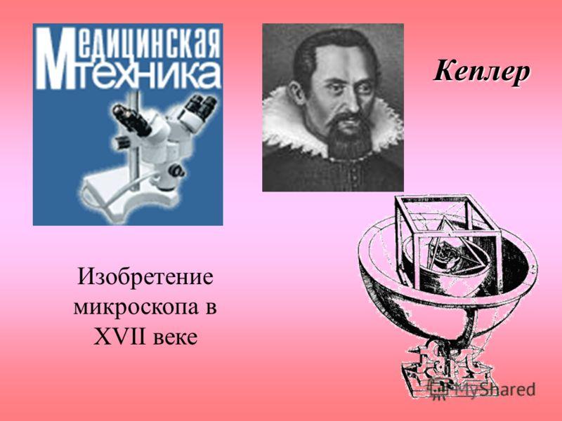 Изобретение микроскопа в XVII веке Кеплер