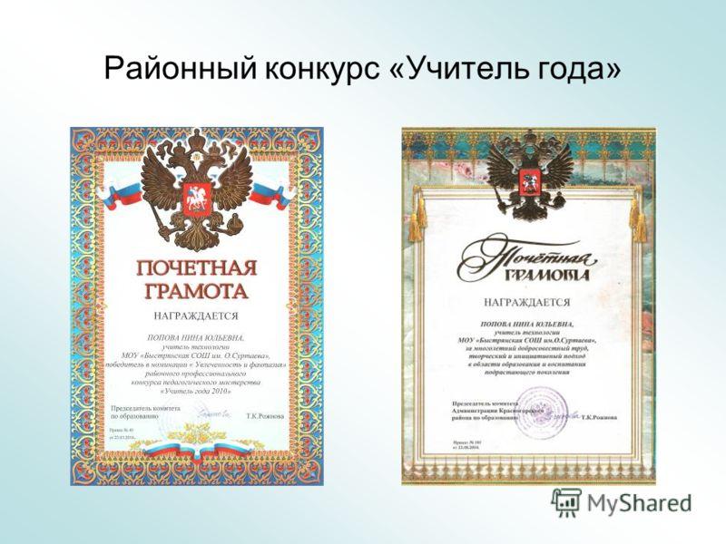 Районный конкурс «Учитель года»