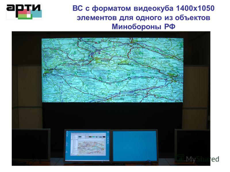 ВС с форматом видеокуба 1400х1050 элементов для одного из объектов Минобороны РФ