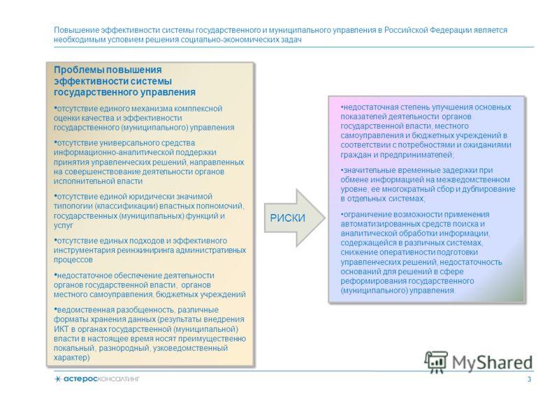 Повышение эффективности системы государственного и муниципального управления в Российской Федерации является необходимым условием решения социально-экономических задач Проблемы повышения эффективности системы государственного управления отсутствие ед