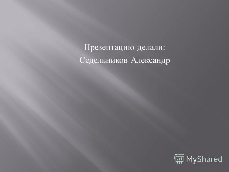 Презентацию делали : Седельников Александр