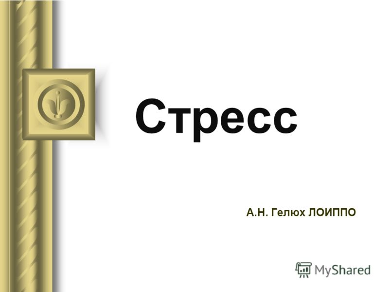 Стресс А.Н. Гелюх ЛОИППО