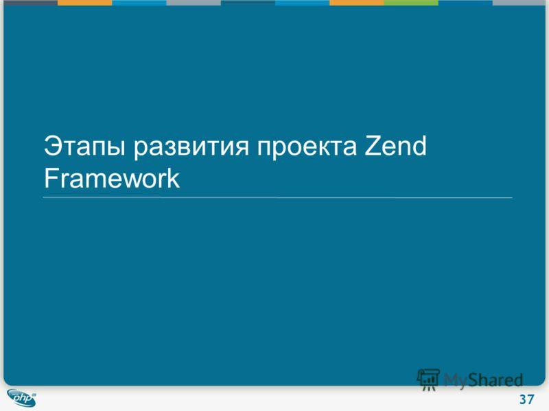 37 Этапы развития проекта Zend Framework