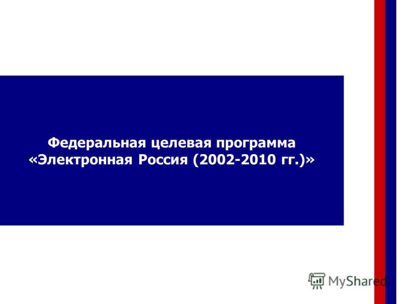 Федеральная целевая программа «Электронная Россия (2002-2010 гг.)»