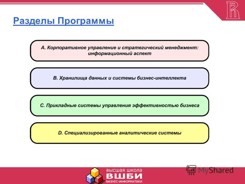 Разделы Программы