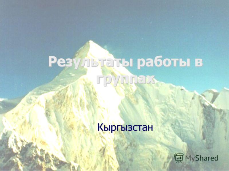 Результаты работы в группах Кыргызстан
