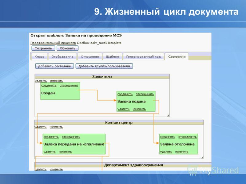 9. Жизненный цикл документа