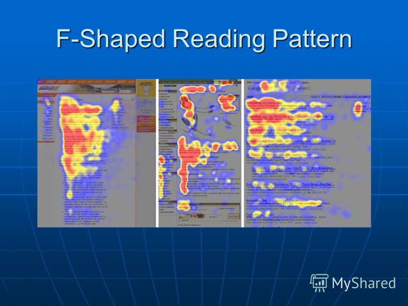 F-Shaped Reading Pattern
