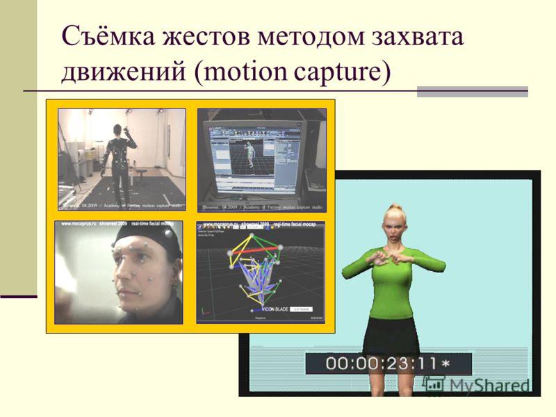 Съёмка жестов методом захвата движений (motion capture)