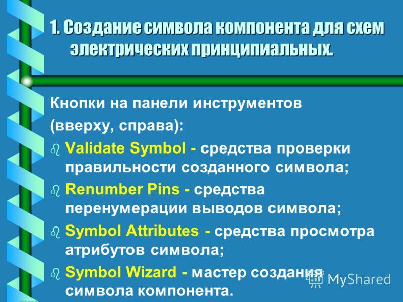 bbЭbbЭкранный интерфейс редактора P-CAD Symbol Editor: