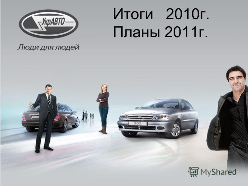 Итоги 2010г. Планы 2011г.