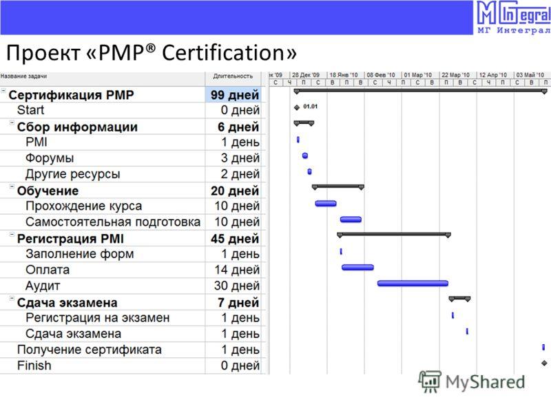 Проект «PMP® Certification»