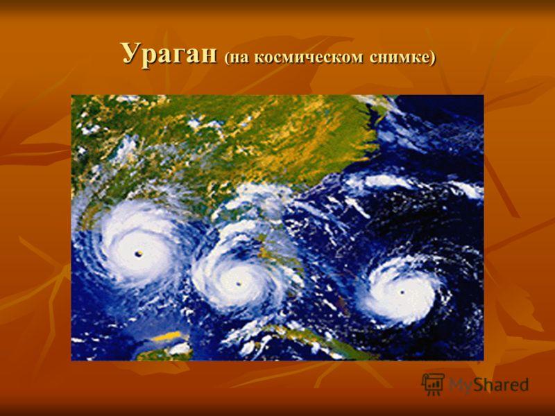 Ураган ( на космическом снимке)