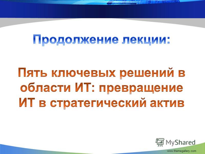 ПРОДОЛЖЕНИЕ ЛЕКЦИИ www.themegallery.com