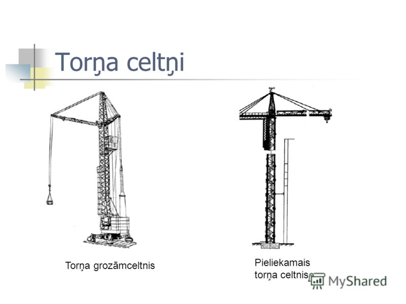 Torņa celtņi Torņa grozāmceltnis Pieliekamais torņa celtnis