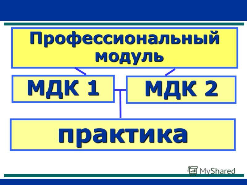 Профессиональный модуль МДК 1 практика МДК 2