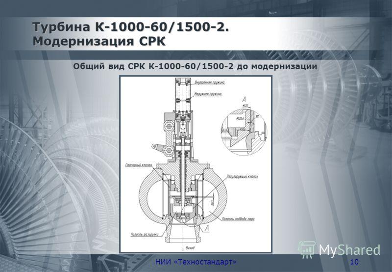 НИИ «Техностандарт»10 Турбина К-1000-60/1500-2. Модернизация СРК Общий вид СРК К-1000-60/1500-2 до модернизации