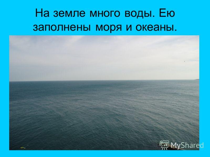 На земле много воды. Ею заполнены моря и океаны.