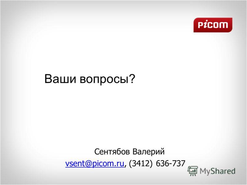 Ваши вопросы? Сентябов Валерий vsent@picom.ru, (3412) 636-737vsent@picom.ru