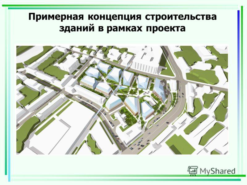 Примерная концепция строительства зданий в рамках проекта