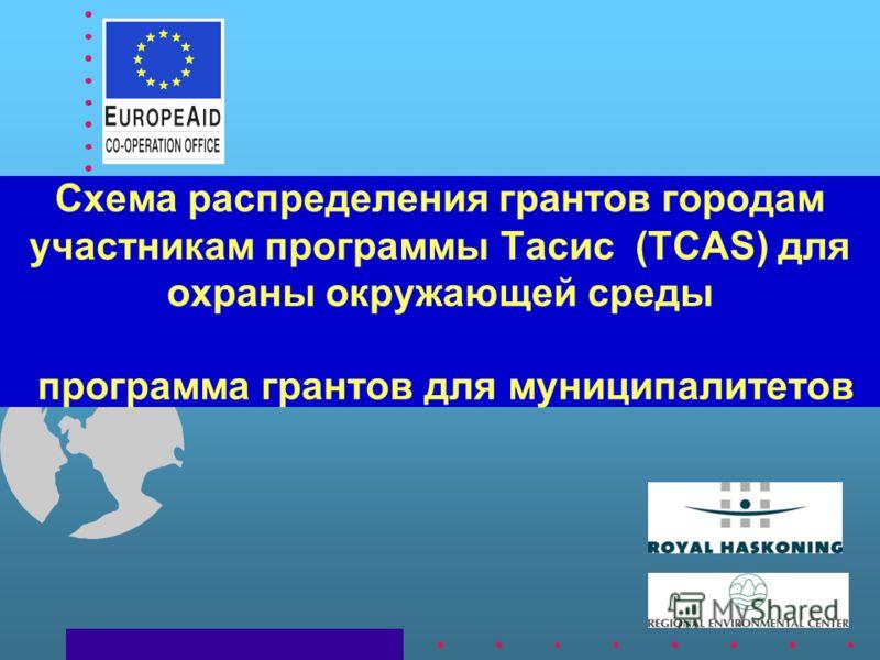 Схема распределения грантов городам участникам программы Тасис (TCAS) для охраны окружающей среды программа грантов для муниципалитетов
