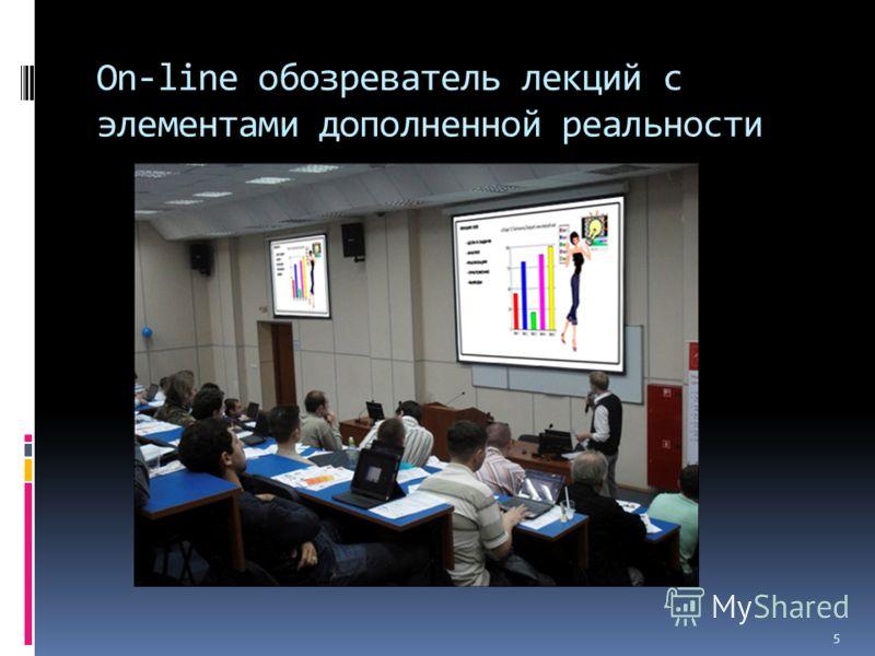 On-line обозреватель лекций с элементами дополненной реальности 5