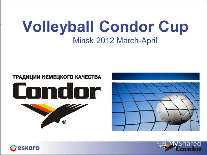 Volleyball Condor Cup Minsk 2012 March-April