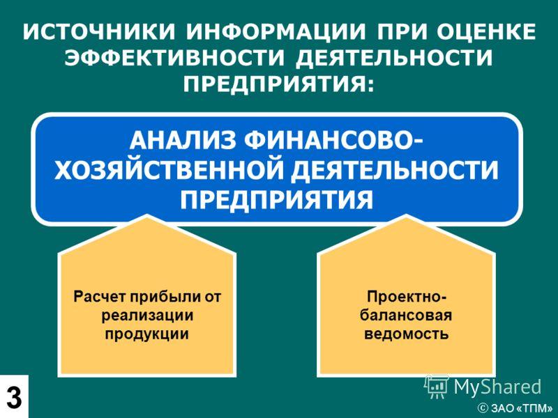 АНАЛИЗ ФИНАНСОВО- ХОЗЯЙСТВЕННОЙ ДЕЯТЕЛЬНОСТИ ПРЕДПРИЯТИЯ ИСТОЧНИКИ ИНФОРМАЦИИ ПРИ ОЦЕНКЕ ЭФФЕКТИВНОСТИ ДЕЯТЕЛЬНОСТИ ПРЕДПРИЯТИЯ: Расчет прибыли от реализации продукции 3 Проектно- балансовая ведомость ЗАО «ТПМ»