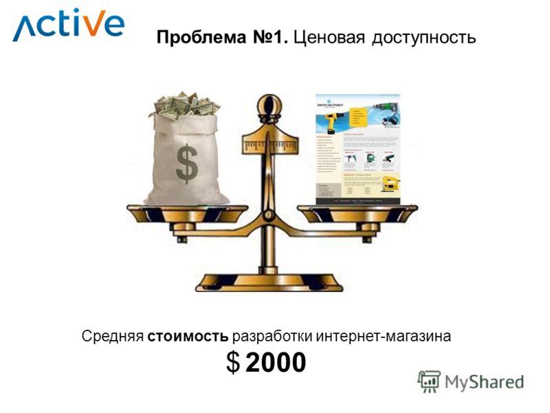 Проблема 1. Ценовая доступность Средняя стоимость разработки интернет-магазина $ 2000