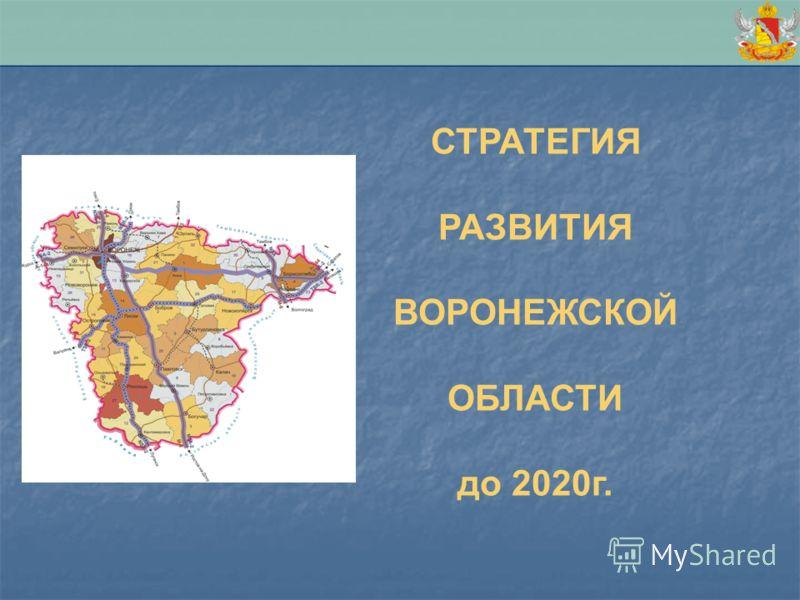 СТРАТЕГИЯ РАЗВИТИЯ ВОРОНЕЖСКОЙ ОБЛАСТИ до 2020г.