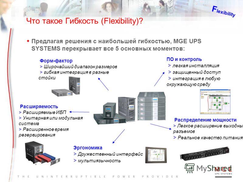 100% эффективность обслуживания MGE PowerServices TM : Множество сервисных контрактов MGE PowerServices TM Уникальное предложение MGE по поддержке клиента от стадии разработки электросистемы, монтажа, обслуживания и модернизации Контракты на обслужив