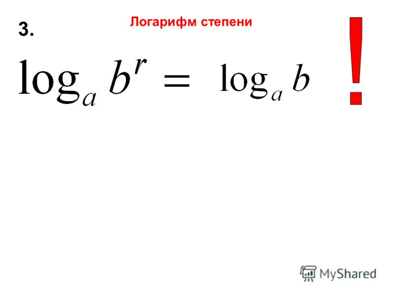 3.3. Логарифм степени