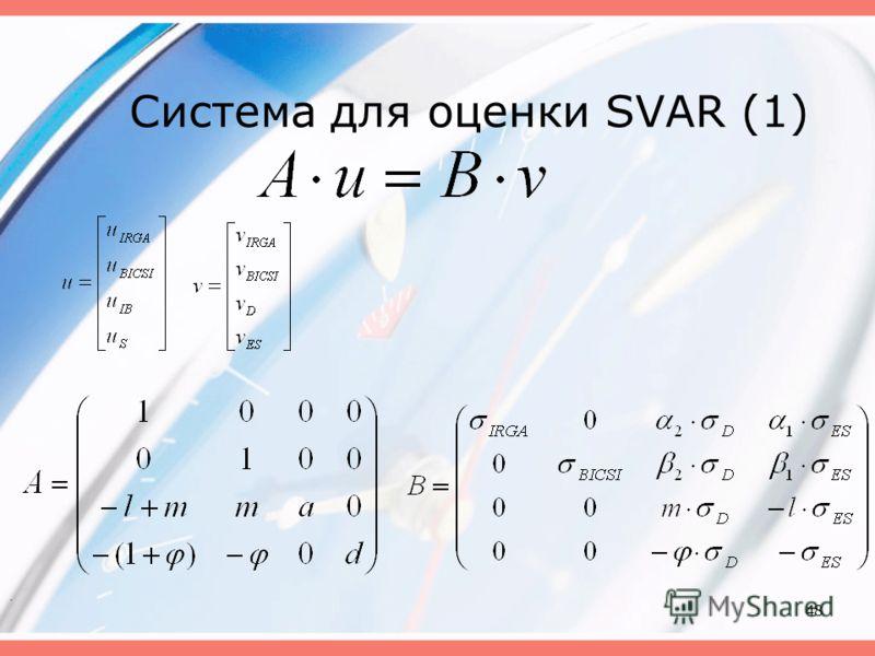 48 Система для оценки SVAR (1).