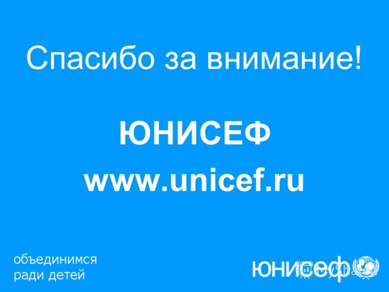 Спасибо за внимание! ЮНИСЕФ www.unicef.ru