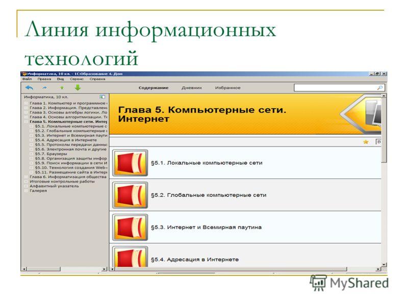 Линия информационных технологий