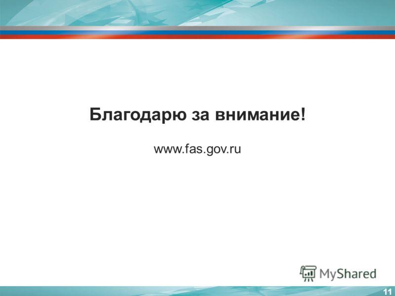 11 Благодарю за внимание! www.fas.gov.ru