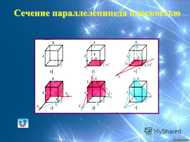 Сечение параллелепипеда плоскостью