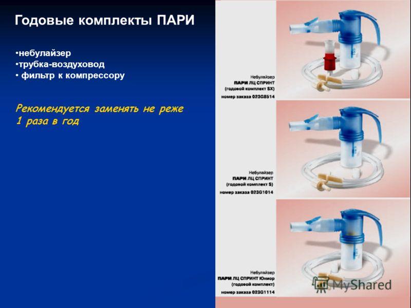 небулайзер трубка-воздуховод фильтр к компрессору Рекомендуется заменять не реже 1 раза в год Годовые комплекты ПАРИ