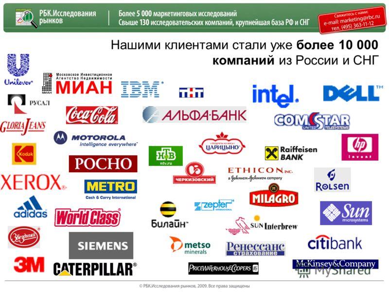 Нашими клиентами стали уже более 10 000 компаний из России и СНГ