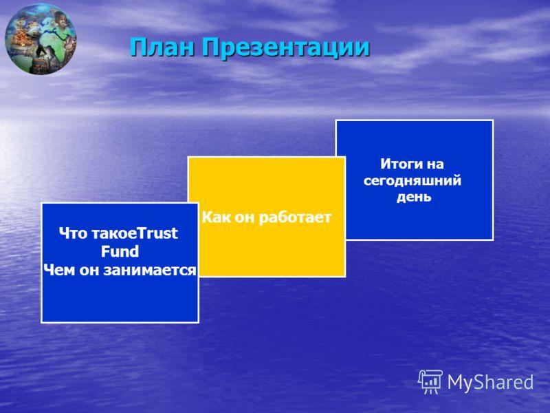 План Презентации Итоги на сегодняшний день Как он работает Что такоеTrust Fund Чем он занимается