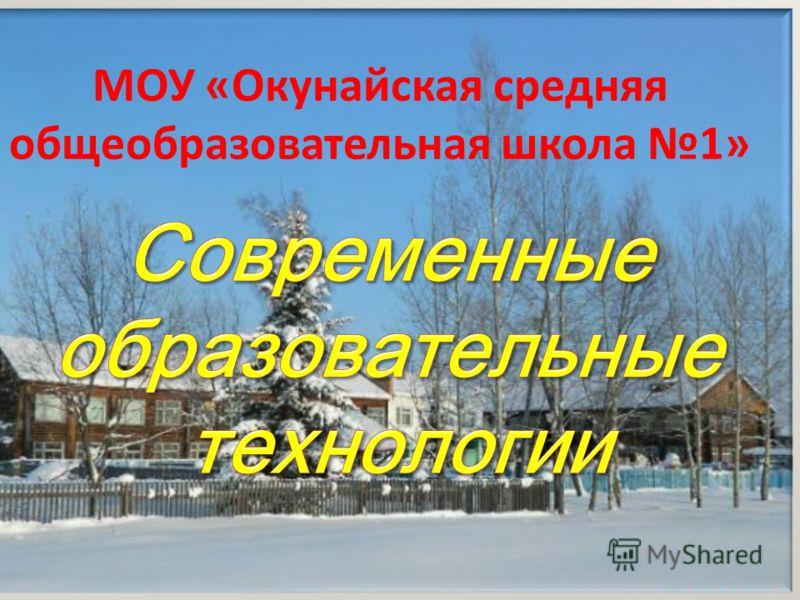 МОУ «Окунайская средняя общеобразовательная школа 1»
