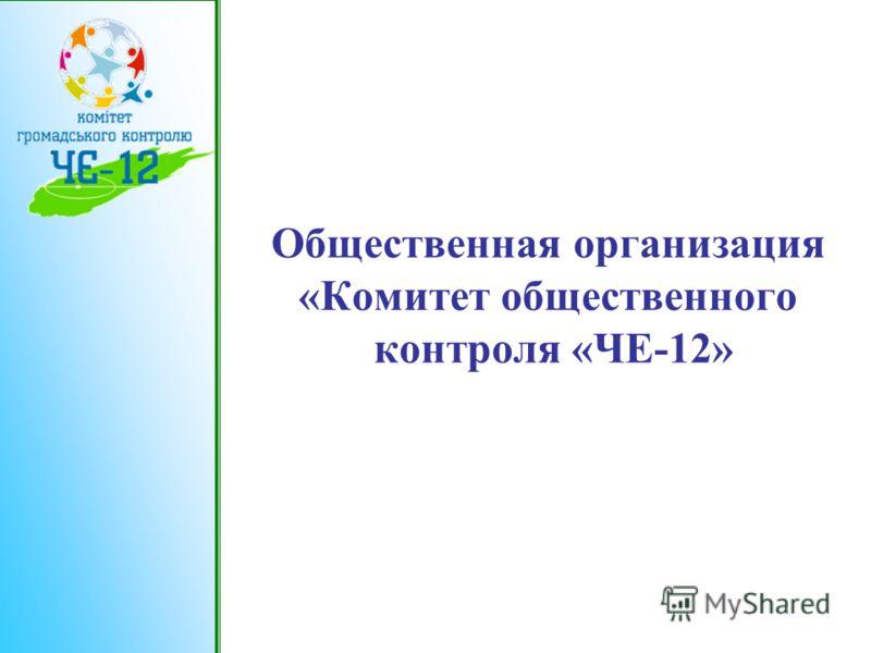 Общественная организация «Комитет общественного контроля «ЧЕ-12»