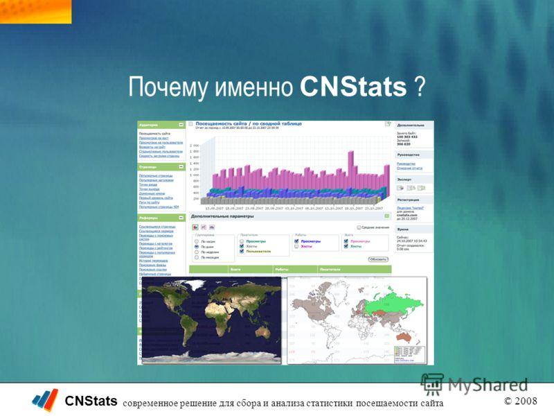 CNStats © 2008 современное решение для сбора и анализа статистики посещаемости сайта Почему именно CNStats ?