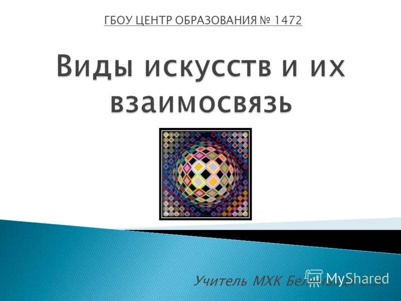 Учитель МХК Беленькая Е.Э. ГБОУ ЦЕНТР ОБРАЗОВАНИЯ 1472