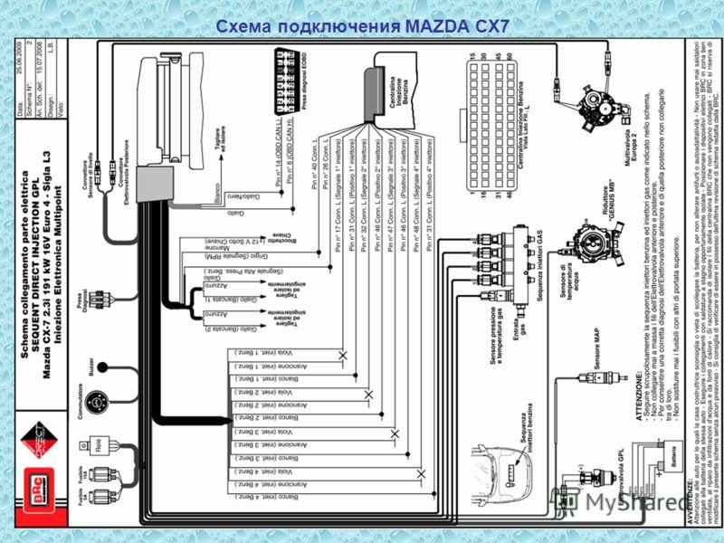 Схема подключения MAZDA CX7