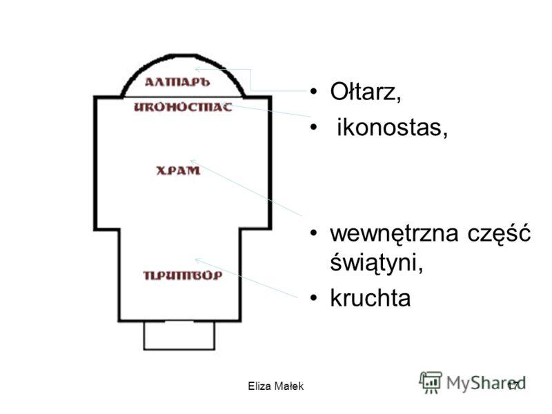 Eliza Małek17 Ołtarz, ikonostas, wewnętrzna część świątyni, kruchta