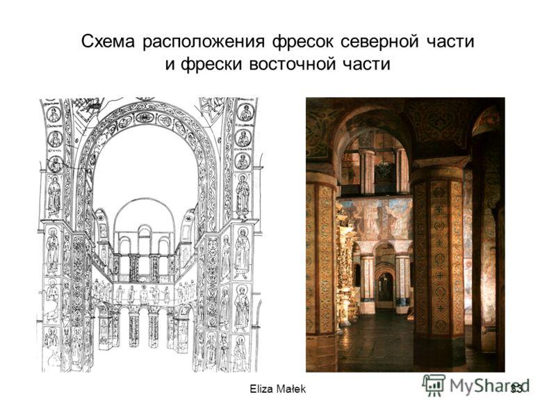 Схема расположения фресок северной части и фрески восточной части Eliza Małek33