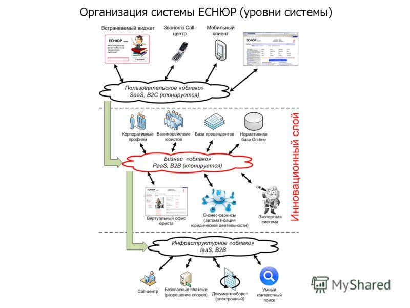 Организация системы ЕСНЮР (уровни системы)