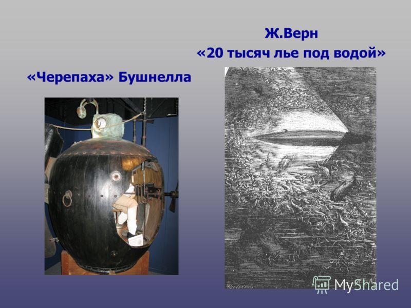 «Черепаха» Бушнелла Ж.Верн «20 тысяч лье под водой»